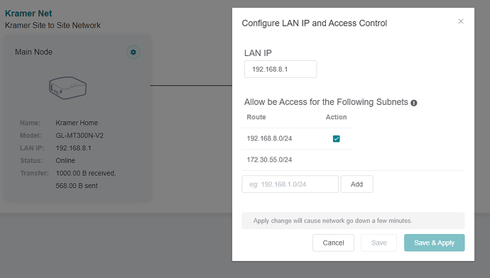 2) Site to Site Config 2